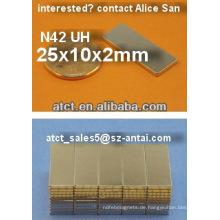 Großhandel starke Blatt Neodym-Magneten für motor, N42UH Hochtemperatur magnet