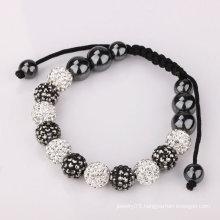White&Blue Shamballa Bracelets Crystal Balls(11pcs) BR194