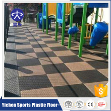 20mm 1mX1m Park Used Rubber Floor Rubber Tile