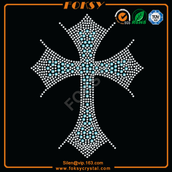 cross rhinestone transfer