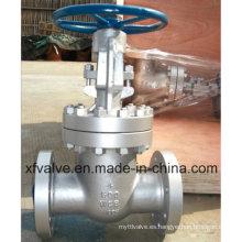 150lb 300lb Válvula de compuerta de extremo de brida Wcb de acero al carbono fundido