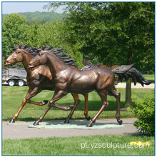 Outdoor Tamanho da vida Bronze Running Horse Sculpture For Sale