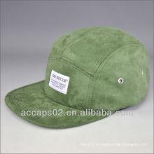 Selo de camurça e tecido 5 chapéu de painel