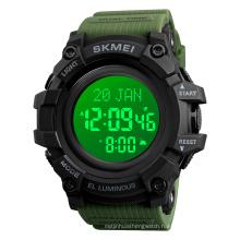 Skmei 1680 Man Japan Movement 5atm Waterproof Round Alloy luxury Wholesale Digital Sport Multi-function Arabic watch