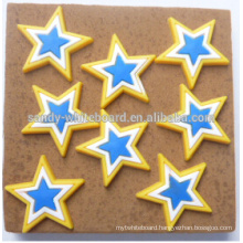Environmental protection plastic five-star cartoon pins