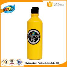 Pintura acrílica profissional da garrafa feita sob encomenda amarela boa do serviço 500ML