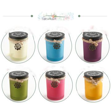 Vela de aroma de cera de soja de alta qualidade em caixas de presente de coluna