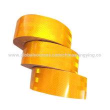 Produto amarelo da segurança do PVC / animal de estimação, material reflexivo para o aviso da estrada