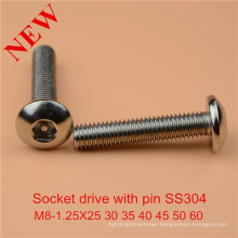 Socket Head with Pin Safety Screw Socket Cap Bolt with Pin