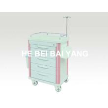 B-62 Trolley de ABS del hospital / carro de la emergencia del ABS