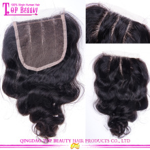 Angelbella Best Selling Silk Base Body Wave Closure #1B Real 100% Brazilian Body Wave Closure