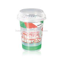 Пищевой пищевой прозрачный полипропиленовый круглый одноразовый пластиковый стаканчик на 10 унций / 300 мл с крышками