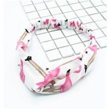 Hot wholesale hair accessories fashion high elastic cross hair band custom promotion printing women cloth headband