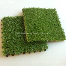WPC-Decking-Fliesen-Zusatz-künstliche Gras-Fliesen 30s30-Agt, das Art ineinandergreift