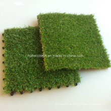 WPC Decking Tiles Accessory Artificial Grass Tiles 30s30-Agt Interlocking Style
