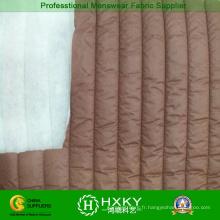 Tissu d'ouate matelassé rayé pour veste matelassée