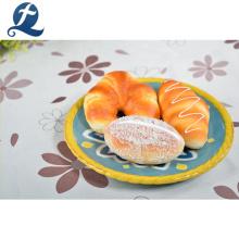 Plato de fruta de restaurante moderno de forma redonda de cerámica de alta calidad