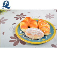 Assiette de fruits de restaurant moderne de forme ronde en céramique de haute qualité