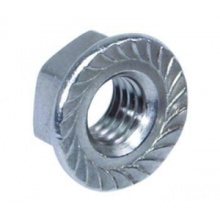 Carbon Steel Hex Flange Nut DIN 6923