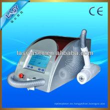 Portátil nd yag lase nd yag q láser conmutado para la máquina de eliminación de tatuajes