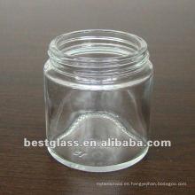 tarro cosmético de vidrio claro de 80g y puede elegir el tapón