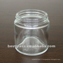 pot de cosmétique en verre clair de 80g et vous pouvez choisir le bouchon