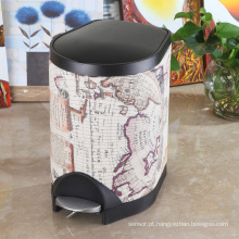 Abstract Design Slow Down Close Pedal Waste Bin (S-8LF)