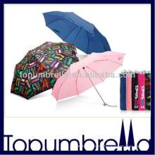 3 faltbarer Super Mini Regenschirm 3fach Mini Regenschirm