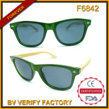 F6842 novo estilo moda unissex óculos de sol Bmboo braços