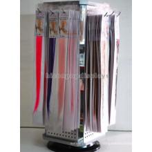 Productos para el cabello Instore Venta al por mayor Rotativo Contador Top Pegboard 4-Vía Extension Peluca Peluca Display Stand