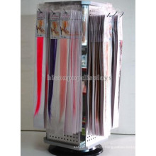 Produits pour cheveux Instore Wholesale Rotating Counter Top Pegboard 4-Way Extension Hair Wig Display Stand