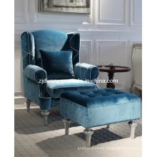 Sala de estar estilo pós-moderno de madeira tecido sofá do lazer definida (LS-116-1 & LS-116-2)