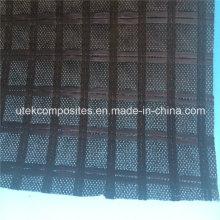 Grille de renforcement en polyester avec support en géotextile non tissé