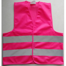 Pink color reflective safety vest for girls