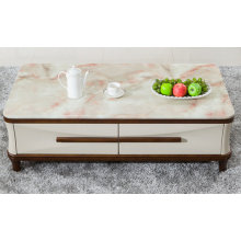 Wood Coffee Table / Modern Marble Coffee Table (1228)