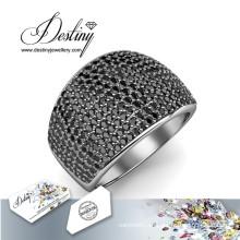 Anillo de Metal de destino joyas cristales de Swarovski anillo Glamour