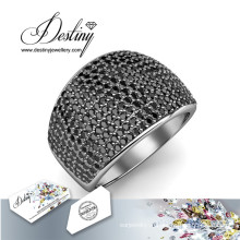 Судьба ювелирные кристаллы Swarovski кольца гламур металла кольцо