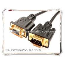 Cable SVGA VGA macho a hembra Cable de extensión del monitor