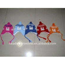 Chapéus tricotados de criança com earflag