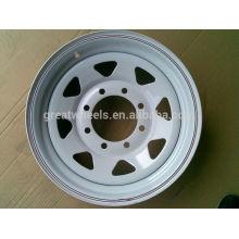Детали прицепа Oem 15x6, Прочный стальной обод колеса с прицепом 15x5,15x6