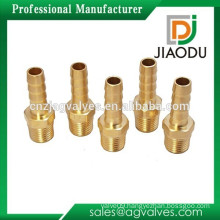 """HOSE BARB NEW ADAPTOR - BRASS MATERIAL LOW PRESSURE 1/4"""" NPTM X FITS 5/16"""" ID SET OF 5"""