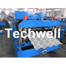 Roof Color Steel Tile Roll Forming Machine With Hydraulic P