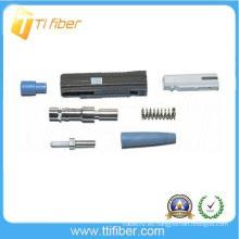 Montaje de cable de fibra óptica de MU conector de fibra monomodo