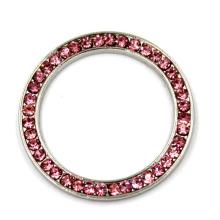 20 milímetros rodada pingente encantos da liga da jóia com strass