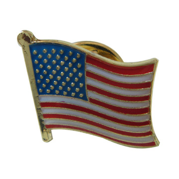 Classic American Flag Pins Proudly Made Jex