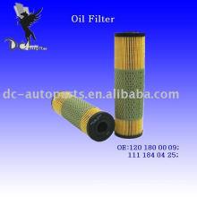Elemento filtrante de aceite lubricante 120 180 00 09 para Mercedes-Benz