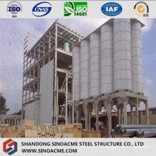 Estructura de estructura de acero para planta de procesamiento industrial