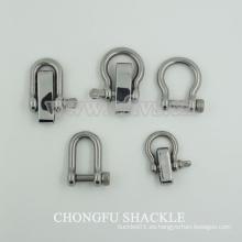 Grillete de acero inoxidable del anillo del anillo de D para las ventas