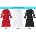 Grace Karin Children Kids Girls 3/4 Sleeve Round Neck Black Lace Flower Girl Dress CL010442-3