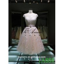 1A884 сексуальная открытой спиной видеть сквозь тонкое кружево невесты платье/платье выпускного вечера